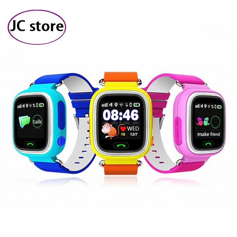 Children Security Essentials New Anti Lost GPS Tracker Watch Q90 For Kids SOS Emergency For IOS