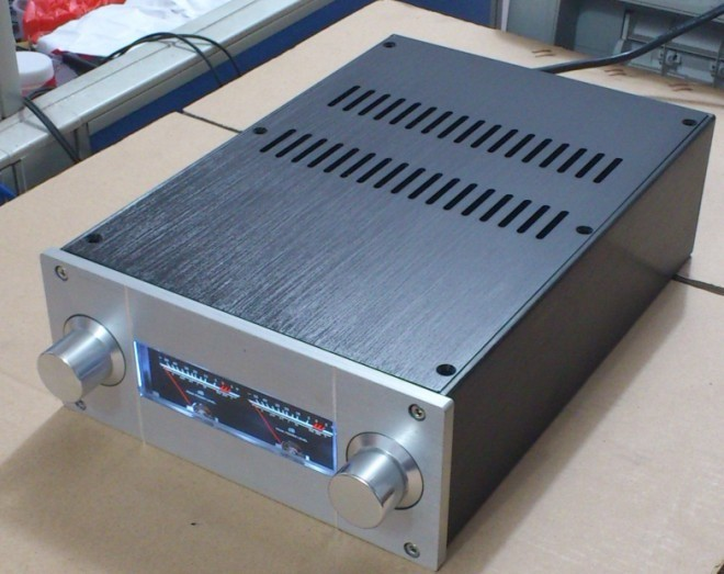 E-051 QUEENWAY JC229 aluminum amplifier chassis / (level meter version) pre-chassis Width 220mm*311mm*90mm 220*311*90mm queenway audio 2215 cnc full aluminum amplifier case amp chassis box 221 5mm150mm 311mm 221 5 150 311mm