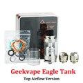 Original Geekvape Águila Sub tanque Ohm Bobina Superior Versión de Flujo de aire 6 ML con Handbuild HBC Cigarrillo Electrónico Atomizador (MM)