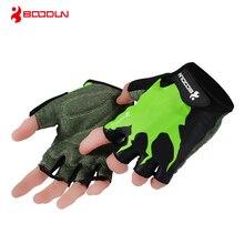 Boodun Brand 2018 Nye Kvinder Fitness Vægtløftning Handsker Mænd Spring Halv Finger Udendørs Sport Gym Breathable Non-slip Glove