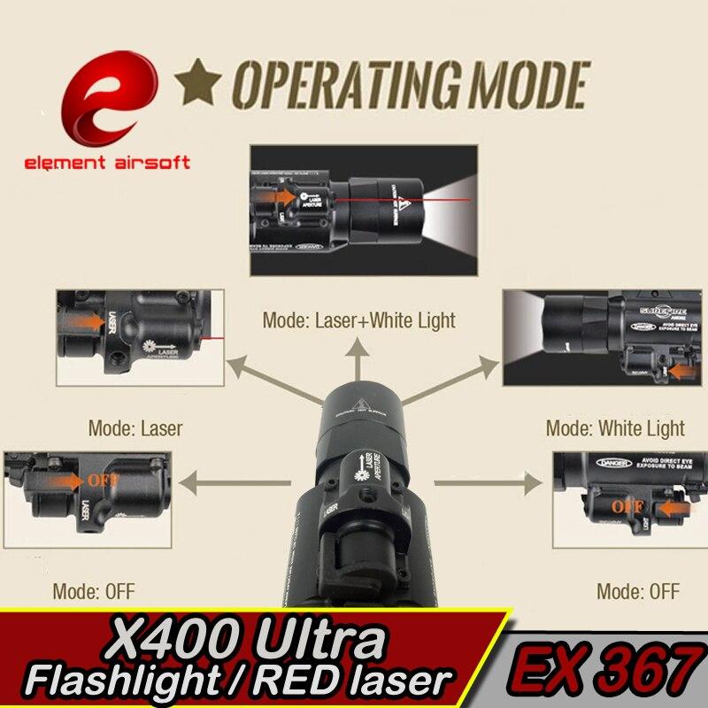 Element X400 Ultraljubičasta Taktička svjetla laser Picatinny - Lov - Foto 4