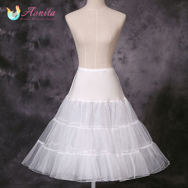 Aonita Short Tutu Skirt Organza Halloween Swing Rockabilly Underskirt Wedding Bridal Petticoat For Dresses Women