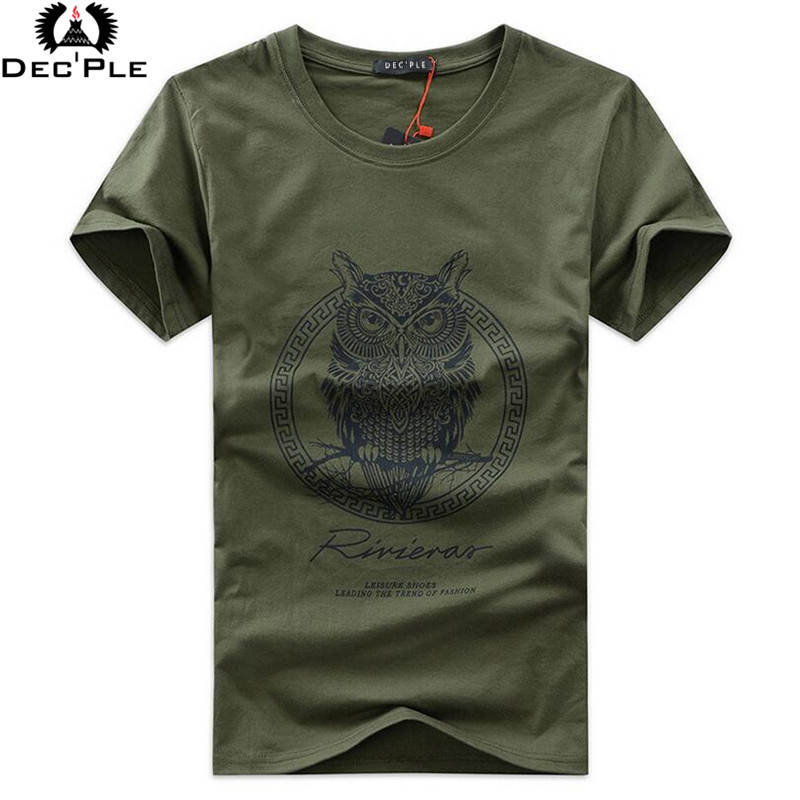 5XL Summer Printed slim Plus size casual cotton t shirt men
