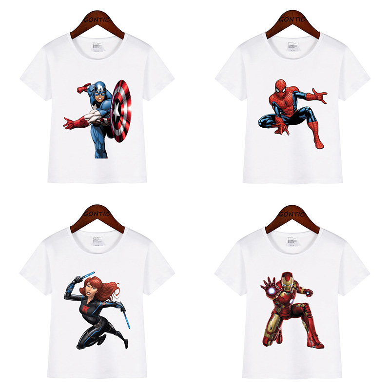 ba886e97b Marvel T-shirt Kids Boys Avengers Captain America Spiderman iron Man Hulk  tee shirt enfant