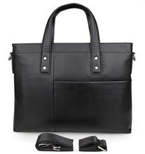 Fashion Toy layer Genuine Leather Men's Briefcase Handbag For Business Men 7329A цены
