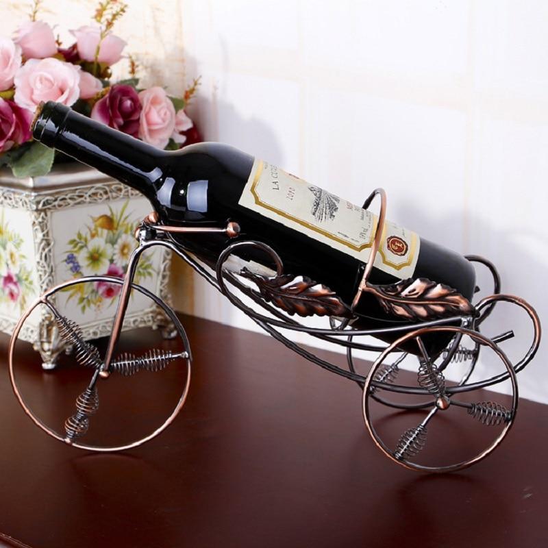 Wrought Iron Wine Rack Creative Bicycle Wine Bottle Holder Shelf