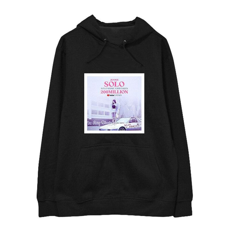Nouveau BLACKPINK fille groupe Kpop femmes Sweatshirts à capuche drôle Harajuku sweat à capuche décontracté hommes/femmes impression