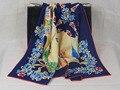 [25% OFF] 204028 3 cores Elegante envoltório das Mulheres de seda Pura grande Lenço De Seda Quadrado, 100% quadrado De Seda lenços de seda de alta qualidade