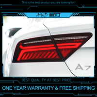 AKD tuning cars Tail lights For Audi A7 2011 2018 Taillights LED DRL Running lights Fog lights dynamic signal light