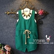 Южная Корея лето качество хлопка женский поясной ремень юбка костюм и ветер два комплекта детской одежды досуг комфорт