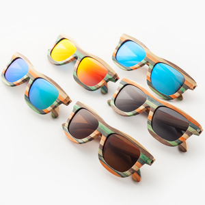 New style brand Vintage multicolor Wooden Polarized sunglasses for women men Colorful Bamboo sun glasses Beach eyeglasses(China)