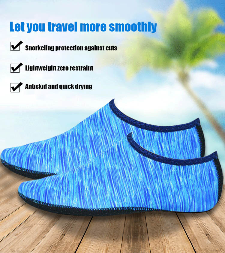 NEW 1 Pair Breathable High Elastic SBR+Nylon Barefoot Aqua Skin Shoes Water Socks For Surfing Beach Swim Yoga Exercise