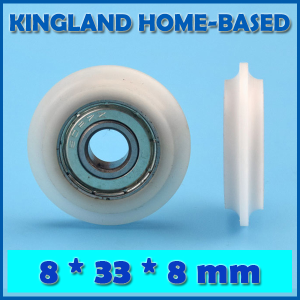 10 Pcs 8*33*8mm POM Plastic Window Y Sliding Bearing Pulley Convex Shoulder 3D Print Engraving Machine Maintain Bearing DIY