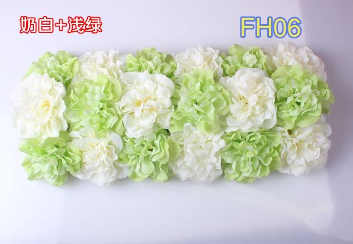 Свадебные композиция свадебные искусственные шелковые свадебные розы арки цветок Свадебные украшения цветок ряд цветок кадр 10 шт./лот - Цвет: FH06