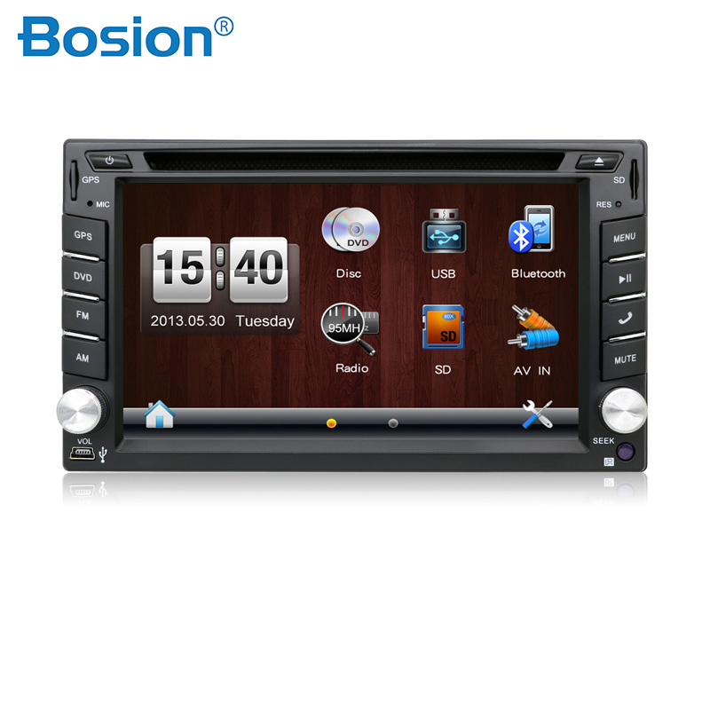 2Din Car DVD Player 6.2 GPS Navigation in Dash Steering wheel Stereo Bluetooth Radio Video Size 178*100mm for Opel VW Toyota