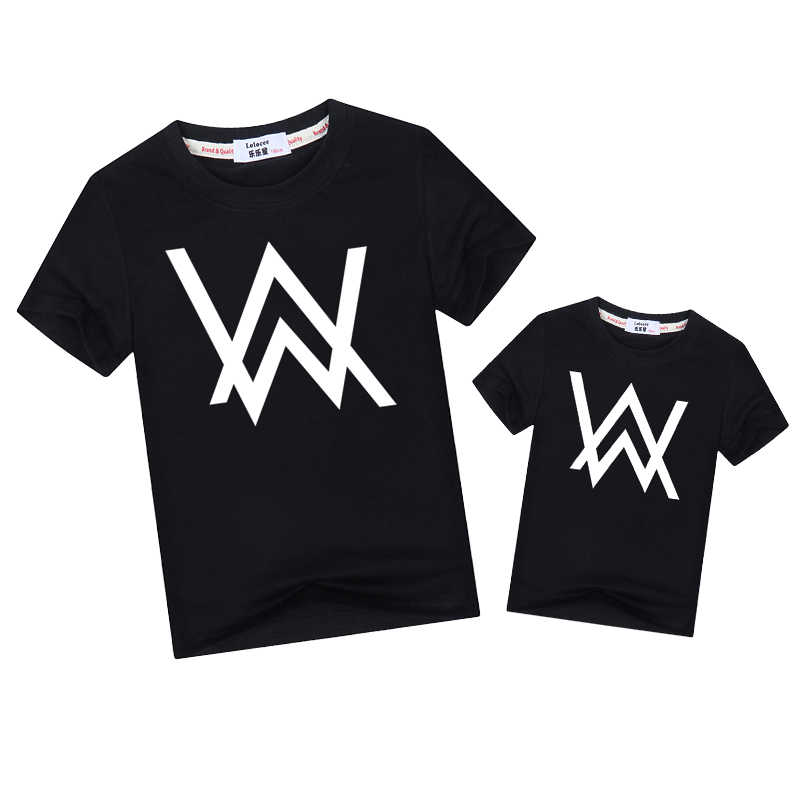 50b7a0a5 Fashion tees son father family matching clothes Alan Walker family look  Outfits short sleeve t-