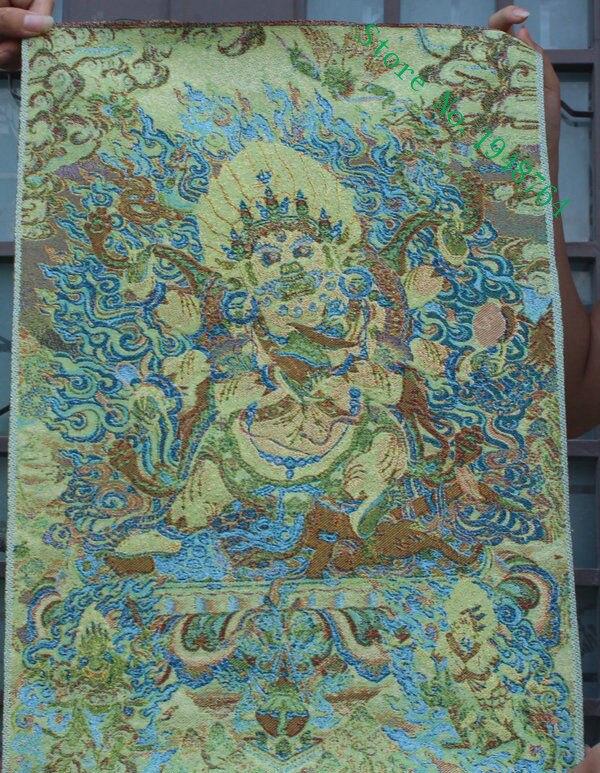 tibeto budizmas Šilko siuvinėjimas thangka Pietų karaliaus dievas - Menai, amatai ir siuvimas - Nuotrauka 2