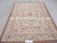 Free shipping 10K 6'x9' Ausbusson design carpets needlepoint woolen rugs in rich colors high quality handmade