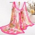 2015 nuevo foulard desigual otoño primavera delgada de seda bufandas mujeres georgette de la gasa de sol del verano de hijab pañuelo de cabeza diadema