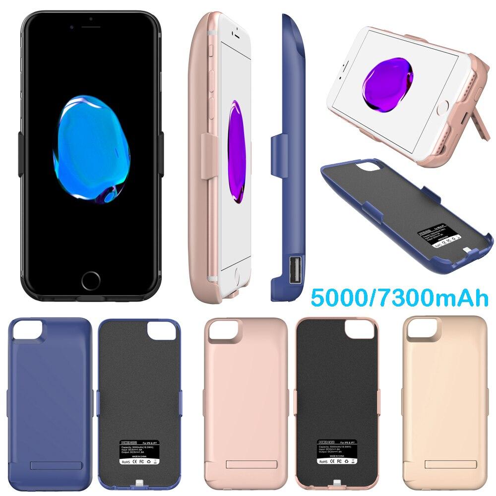 Idealforce 5000/7300 мАч внешний Мощность Банк pack Вернуться батарея Зарядное устройство чехол для iPhone 6 6S 7 8 плюс с USB Дата линии