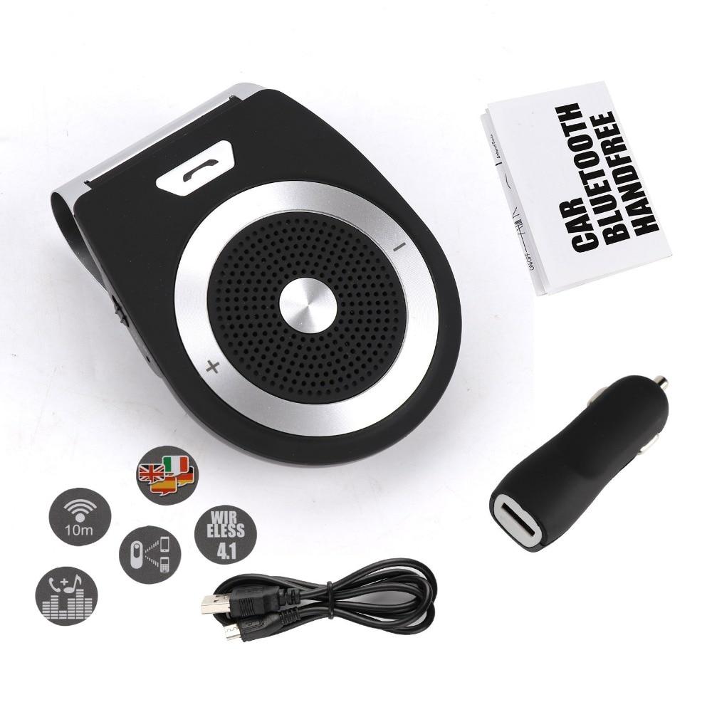 TAIHONGYU Universal Bluetooth Car Kit Handsfree Noise Cancelling Bluetooth Receiver Car Speakerphone Multipoint Clip Sun Visor