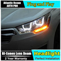 Auto.Pro Car Styling for Citroen C4L Headlights 2014 C4 LED Headlight DRL Lens Double Beam H7 HID Xenon bi xenon lens