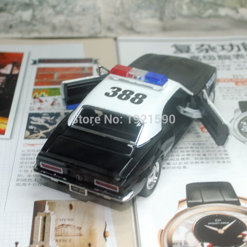 5pcs/lot KT 1/37 Scale Pull Back Car Toys 1967 Chevrolet Camaro Z-28 Police Version Diecast Metal Car Model Toy