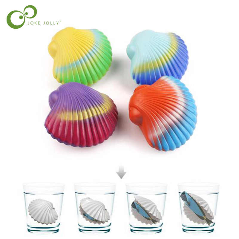 5pcs/lot Magic Hatching Growing Marine life  shell toy, growing  in the water marine animal scallops baby gifts LYQ