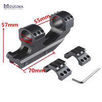 Tactical Cantilever Flat Top 25.4mm Rifle Scope Mount Forward Reach Dual Rings Picatiiny Rail 20MM For Rifle Sight Air Gun Caza