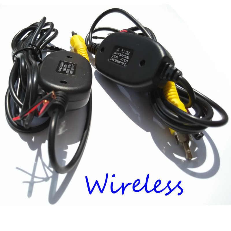 Aparcamiento cámara trasera inalámbrica inversa de DVD del coche de RCA Video 2,4 GHz, receptor transmisor kit para Nissa Kia BMW Ford VW Opel