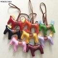 Señoras Mini Llavero Animal Caballo Llavero de Las Mujeres de Cuero Hecha A Mano Pendiente Del Encanto del Bolso Bolsas Pequeñas Accesorios Accesorio enviar bufanda