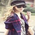 El otoño y el invierno de compras de ocio coreano del todo-fósforo señora enarboló cap visera cap marquesinas cortos ocio cap