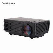 Звук Шарм HD проектор для домашнего кинотеатра HDMI ЖК-дисплей VGA светодиодный игры PC цифровой мини несколько входы поддерживают 1080 P Proyector beame
