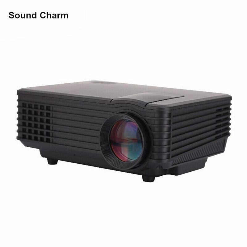 Suono di fascino HD home cinema Proiettore LCD HDMI VGA LED Gioco PC Digital Mini Più Ingressi supporto 1080 P Proyector Beame