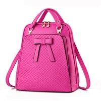 Ladies backpack shoulder bag Korean version of the influx of women bag school PU leather backpack 5