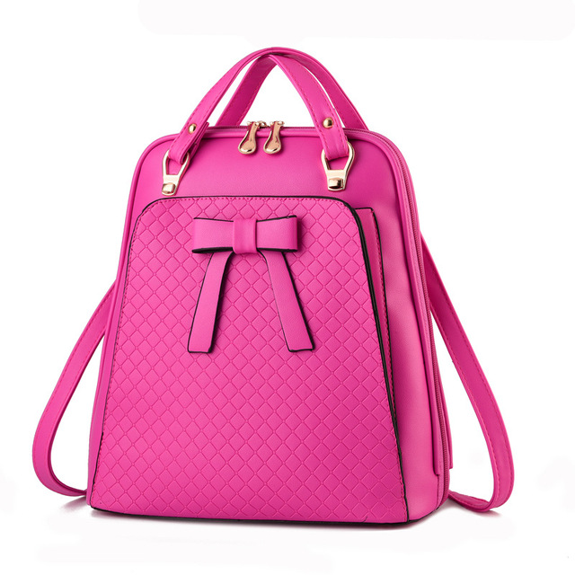 Ladies backpack Bag shoulder Girls Backpack bag - school Bag PU leather backpack 5