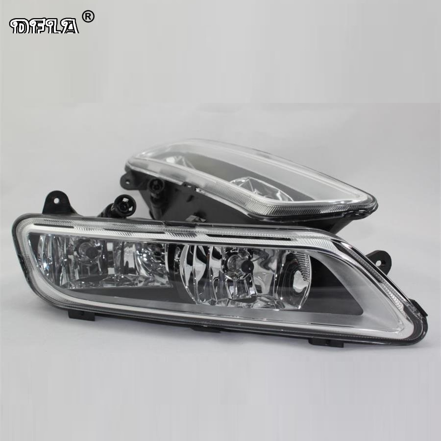 Car Light For VW Passat B7 2011 2012 2013 2014 2015 Car-Styling Front Halogen Fog Lamp Fog Light 1pcs oem front left halogen fog lamp light 3ad 941 661 for vw passat b7