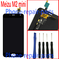 5 inch Full LCD Display + Digitizer Touch Screen Glass Assembly For Meizu m2  M2 mini /  Meilan 2 M578  + Free Tools