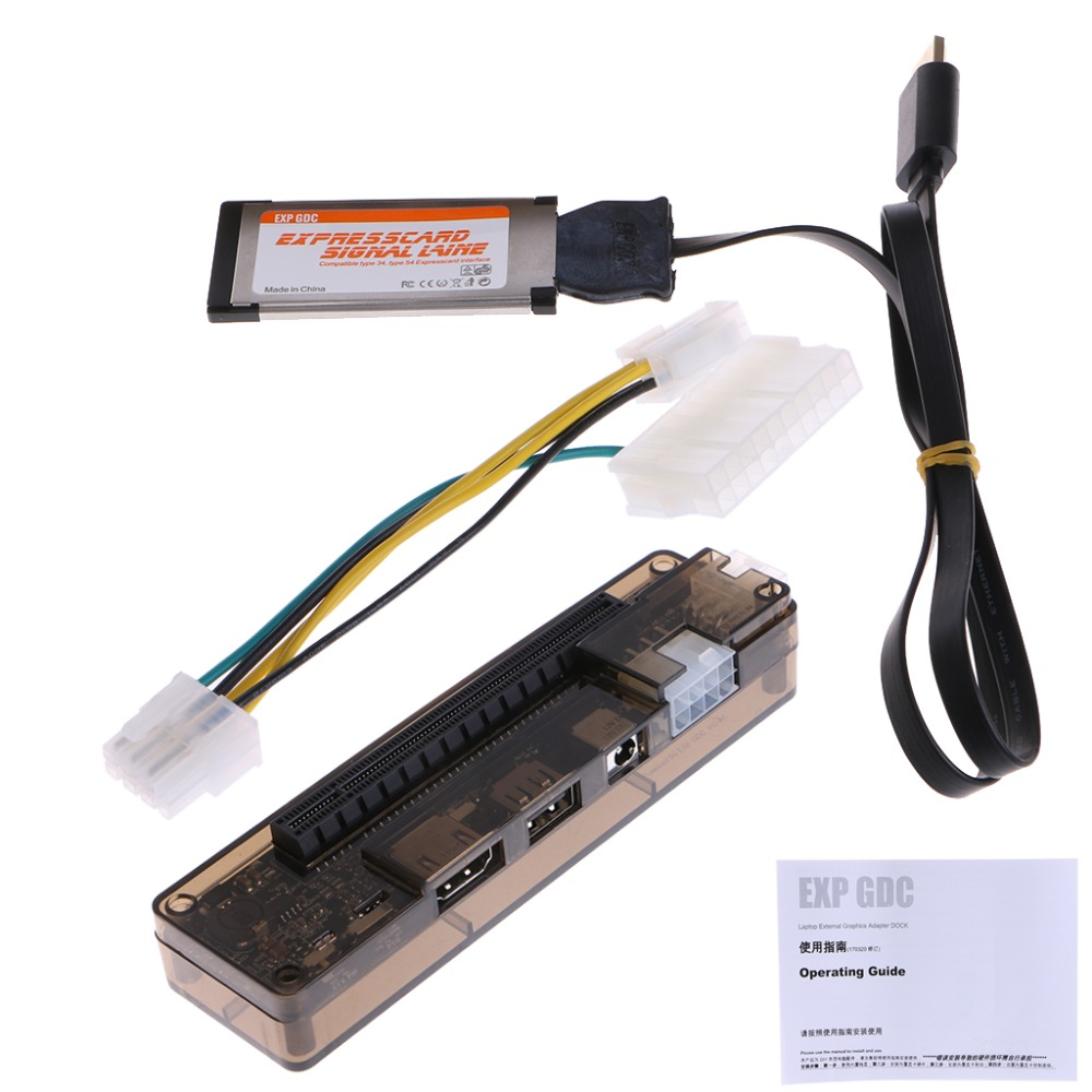 NEW PCI-E External Laptop Video Card Dock Station Cable For Express Card Interface Laptop PCI-E Expansion Device C26 debroglie 1pcs brand new full height gt210 real 1gb ddr3 pci express graphics video card