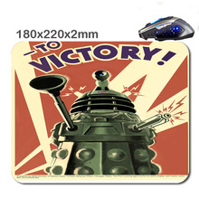 Dalek to victory poster New Arrivals Customized Non-Slip Rubber 3D Printer Gaming laptop Durable Nice Mouse mat 220*180*2mm