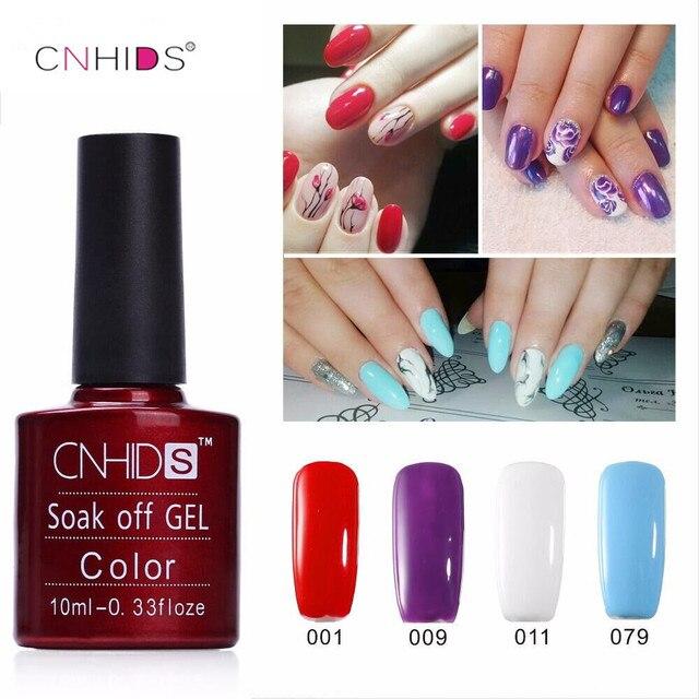 NOWY CNHIDS 1 PC polski Paznokci Żelem UV & LED Świecące Kolorowe 132 Colors10ML długotrwałe soak off Lakier tanie Manicure