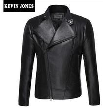 Stand collar new spring winter men s leather jacket men motorcycle clothes long sleeve casual oblique