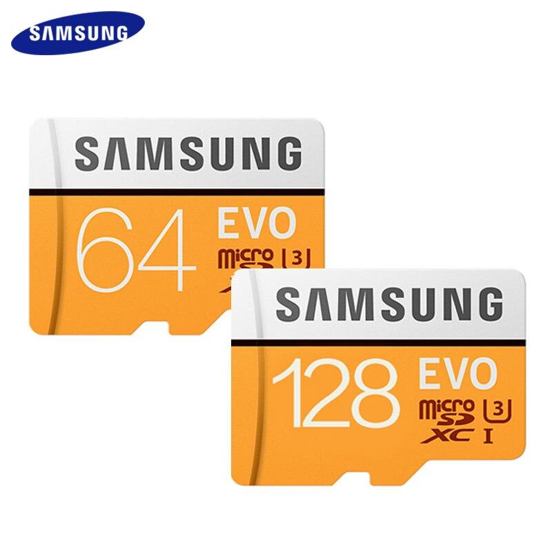 Original SAMSUNG EVO 128GB 64GB C10 Micro SD Card 64gb 128gb Flash Cards SDXC U3 Max 95MB/s TF Card Trans Flash Card Memory Card