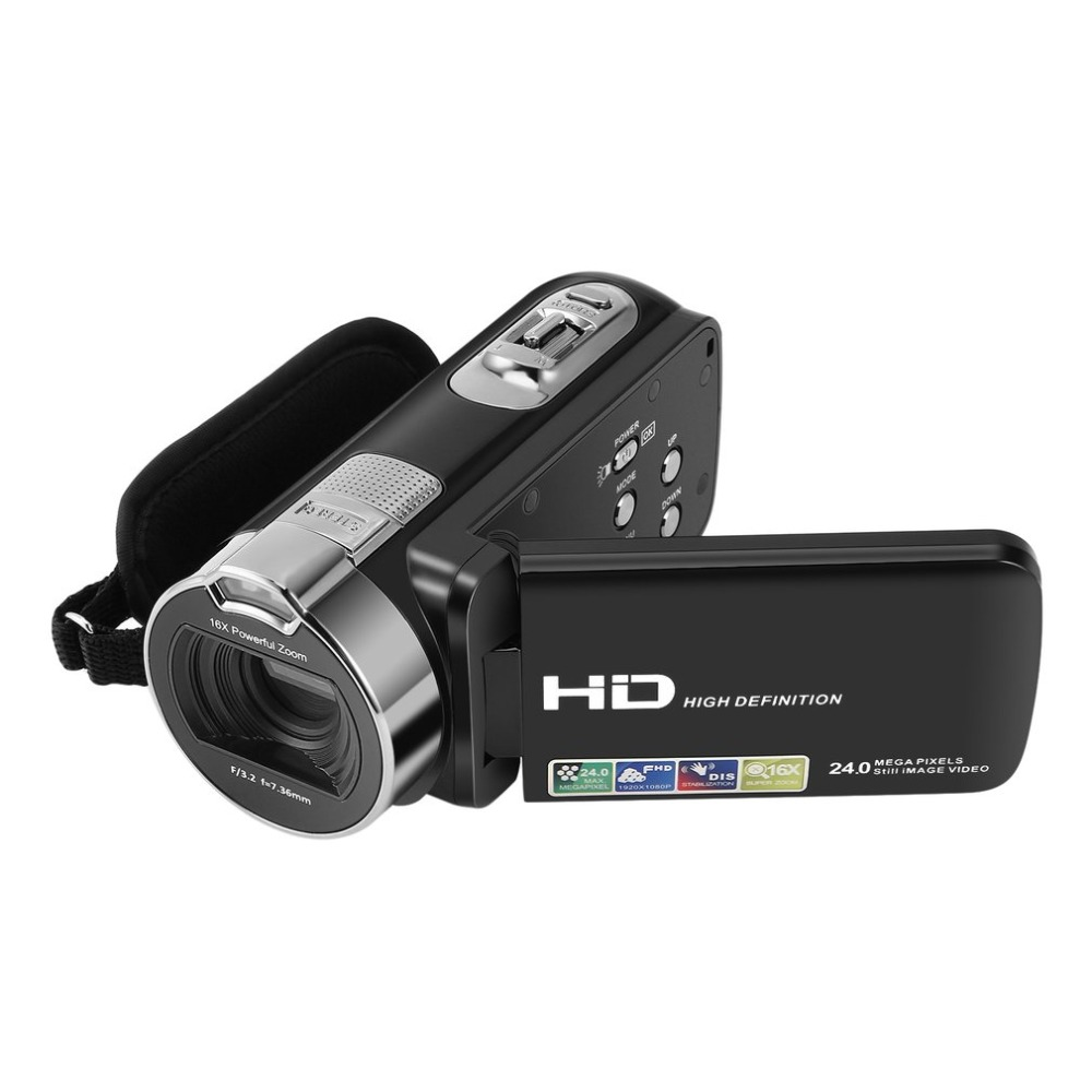 Digital Camera Camcorders 1080P 24 MP 16X Powerful Digital Zoom 2.7 Inch LCD Stabilization With 270 Degree Rotation Screen