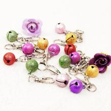 Pet Dog Bell Animal Pet accessories colorful small bellwith key ring Random color