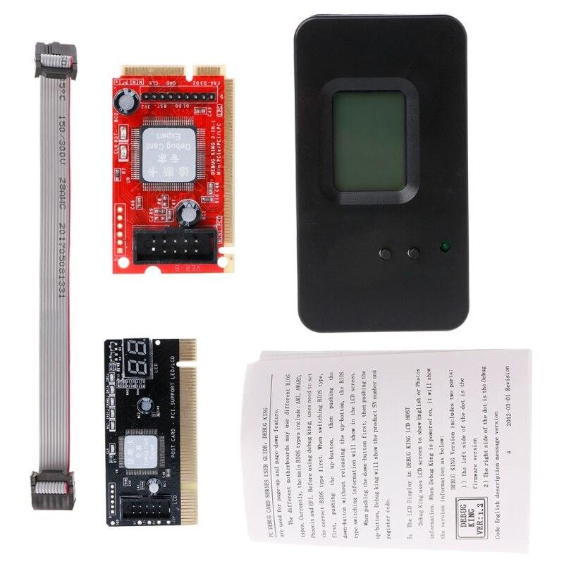 4-In-1 Desktop Laptop Debug DiagnosticPCI/Mini PCI-E/LPC PCI/Mini Test POST Card New