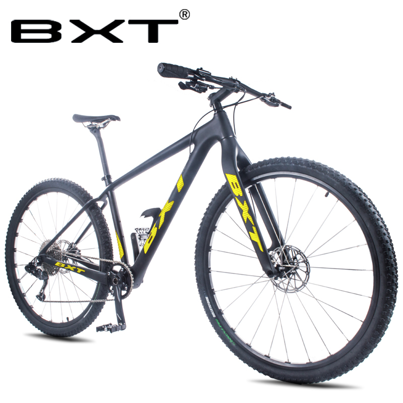29er Full Carbon Mountain Complete Bike 1*11 Speed Thru Axle Carbon Fiber MTB Bicycle Hard Frame Frok Free Shipping