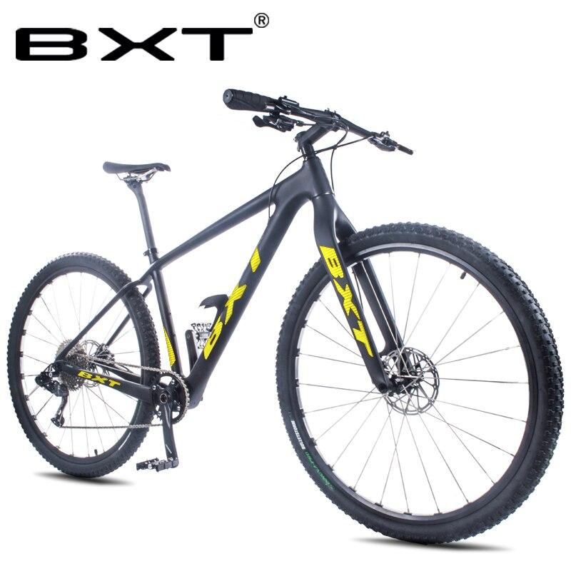 29er vélo complet de montagne en carbone 1*11 vitesses à travers l'axe en Fiber de carbone vtt cadre rigide frok livraison gratuite