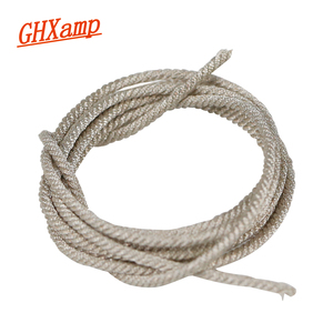 """Image 5 - GHXAMP 1Meter Lead Wire for 15"""" 18"""" 21 Inch Professional PA Subwoofer Speaker Repair Woofer Voice coil Replace Silver Cable"""