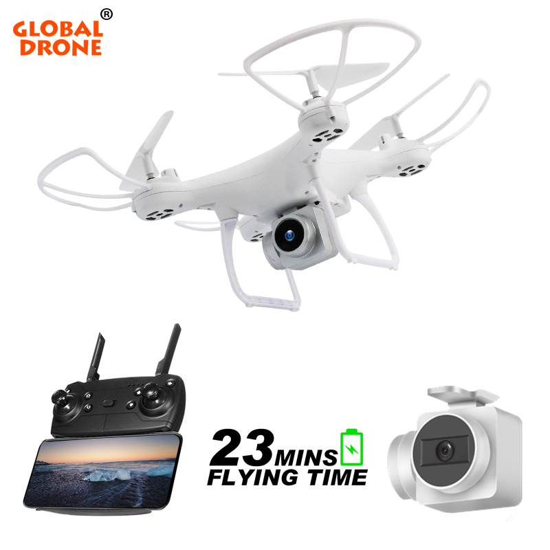 Global Drone Long Time Fly Dron with Camera Headless Mode Remote Control Quadcopter WIFI FPV High